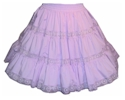 Tiered Skirt with Lace