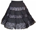 Six-tier Lace Skirt