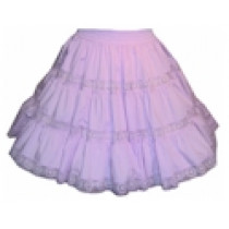 3-Tiered Skirt with Fiesta Lace