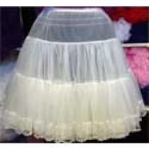 Chiffon Petticoat with Lace Trim
