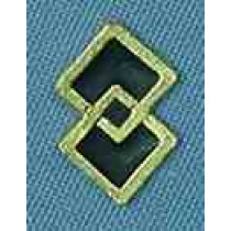 SQUARE DANCE SYMBOL WITH ENAMEL (PACKAGE OF 25)