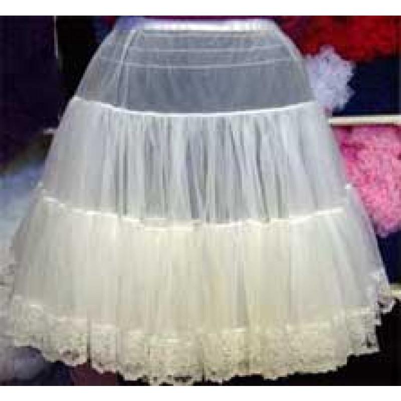 Chiffon Petticoat W Lace Trim