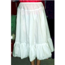 Poly-Cotton Petticoat with Lace Trim, T99