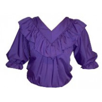 V-Neck One Ruffle Blouse