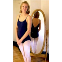 Classic Cotton Camisole Leotard with Low V-Back