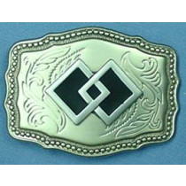 DOUBLE SQUARE BELT BUCKLE