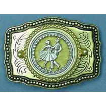 COLORFUL DANCER BELT BUCKLE