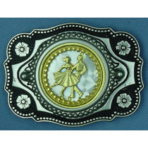 GOLD DANCER BELT BUCKLE BW229-1