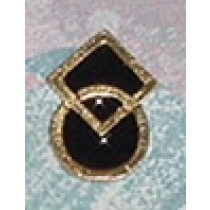 DANCE SYMBOL WITH BLACK ENAMEL (PACKAGE OF 25)