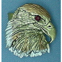 TRI COLOR EAGLE HEAD TIE SLIDE