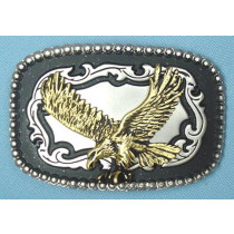 ENAMEL EAGLE BELT BUCKLE